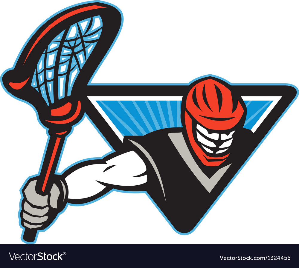 Lacrosse player crosse stick vector | Price: 1 Credit (USD $1)