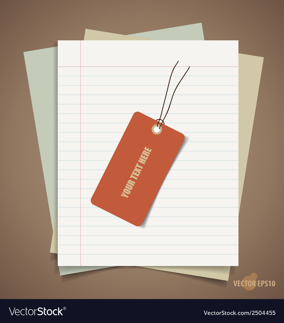 Note papers tag vintage style template design vector | Price: 1 Credit (USD $1)