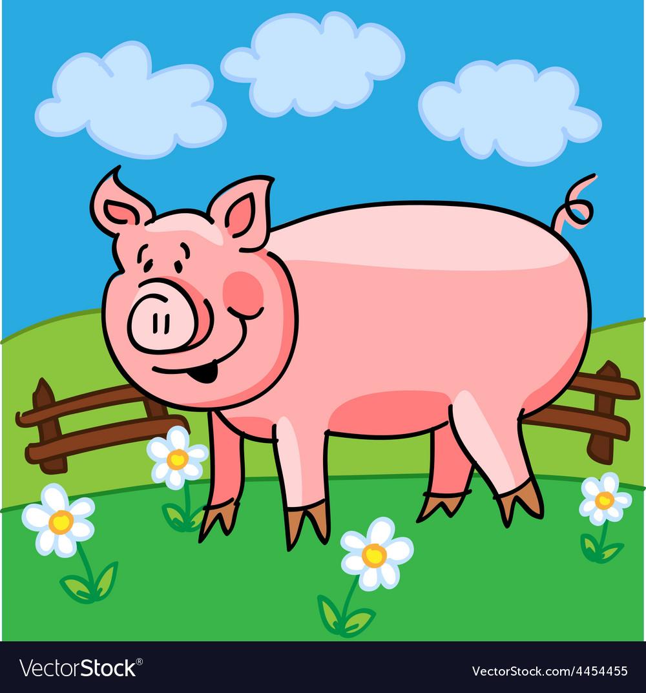 Pig cartoon vector | Price: 1 Credit (USD $1)