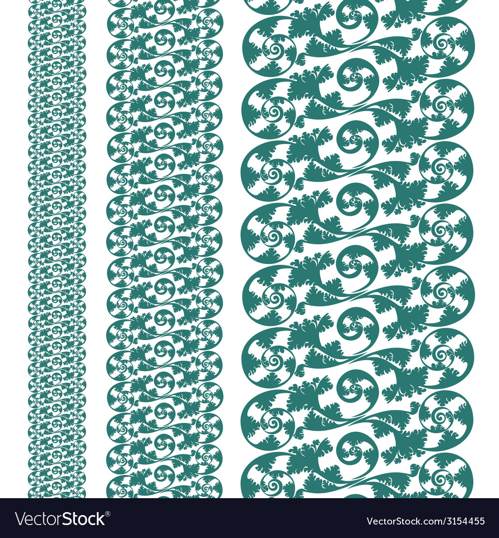 Set seampless pattern lace vector | Price: 1 Credit (USD $1)