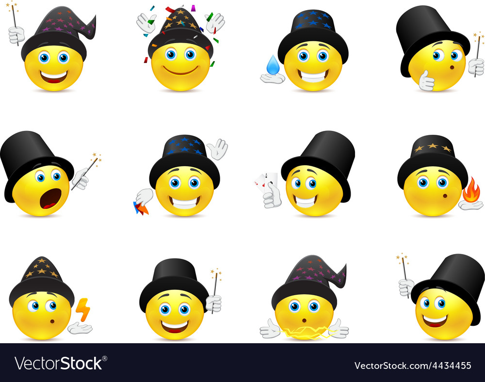 Smiley and magic vector | Price: 1 Credit (USD $1)