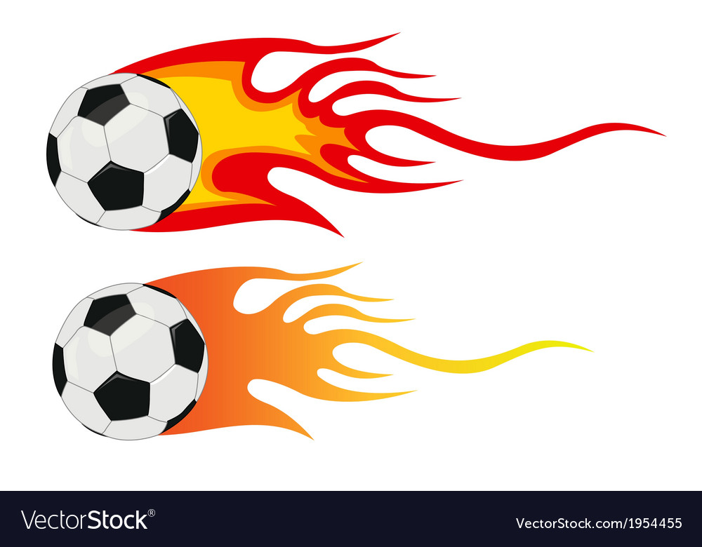 Soccer ball flying through air vector | Price: 1 Credit (USD $1)