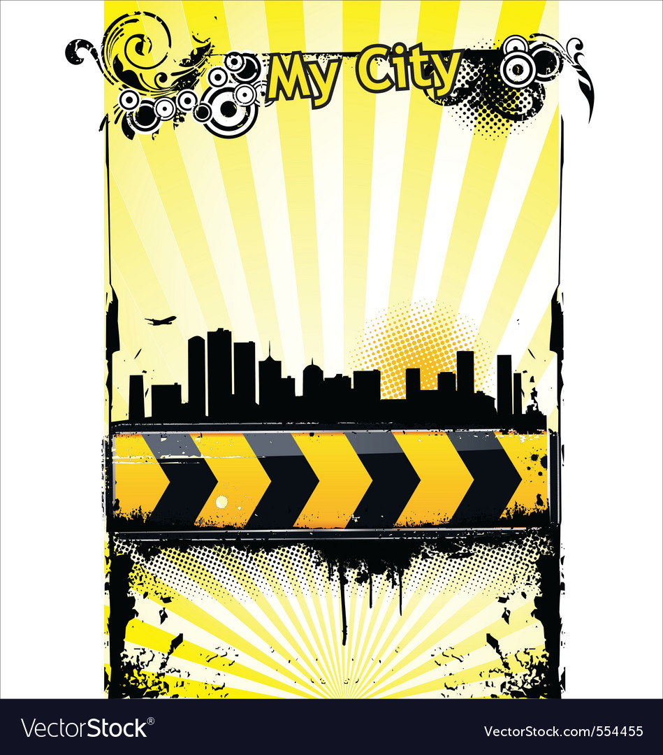 Urban banner vector | Price: 1 Credit (USD $1)