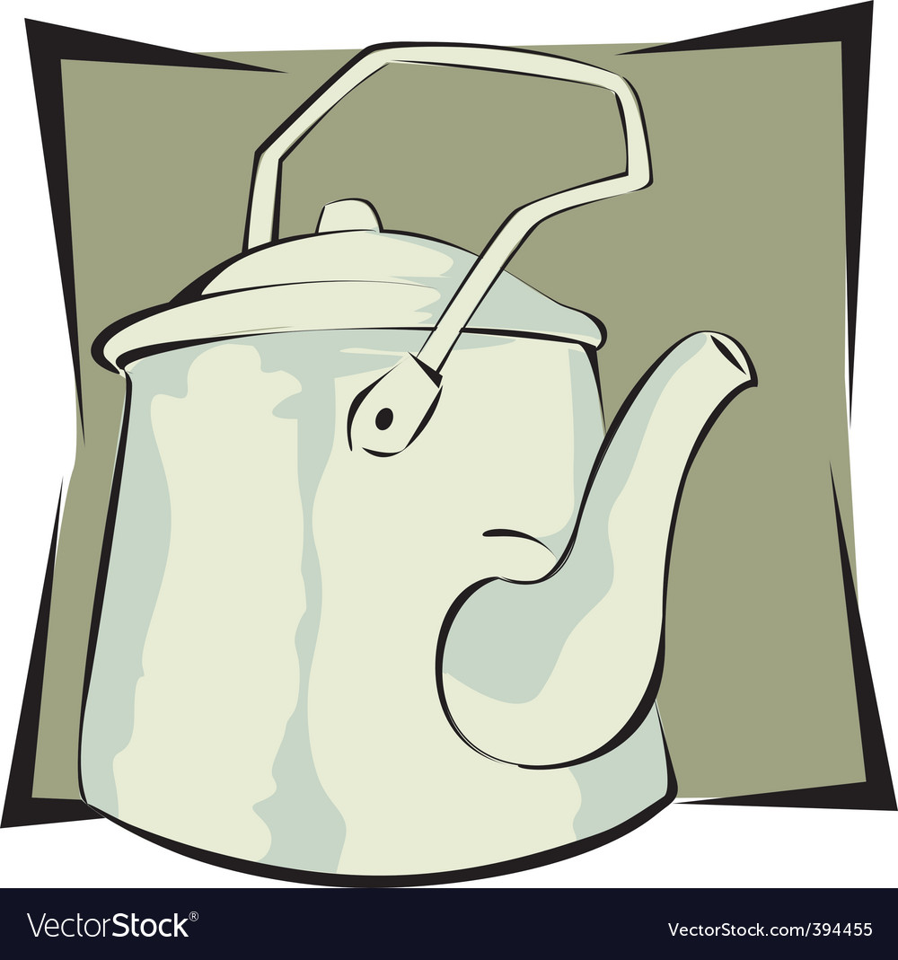 Water kettle vector | Price: 1 Credit (USD $1)