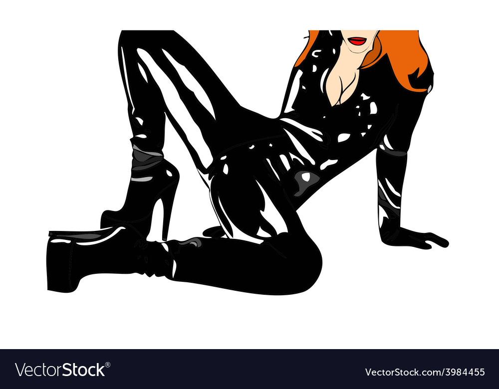 Woman in a dress provocatively vector   Price: 1 Credit (USD $1)