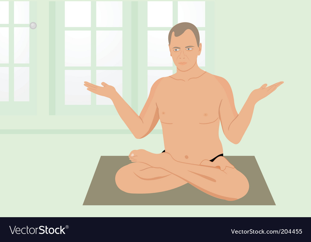 Yoga man vector | Price: 1 Credit (USD $1)
