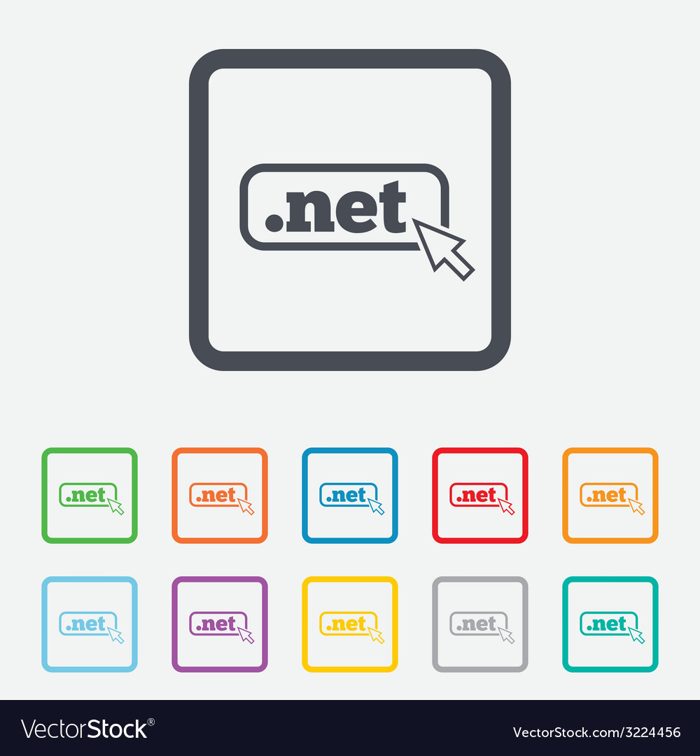 Domain net sign icon top-level internet domain vector   Price: 1 Credit (USD $1)