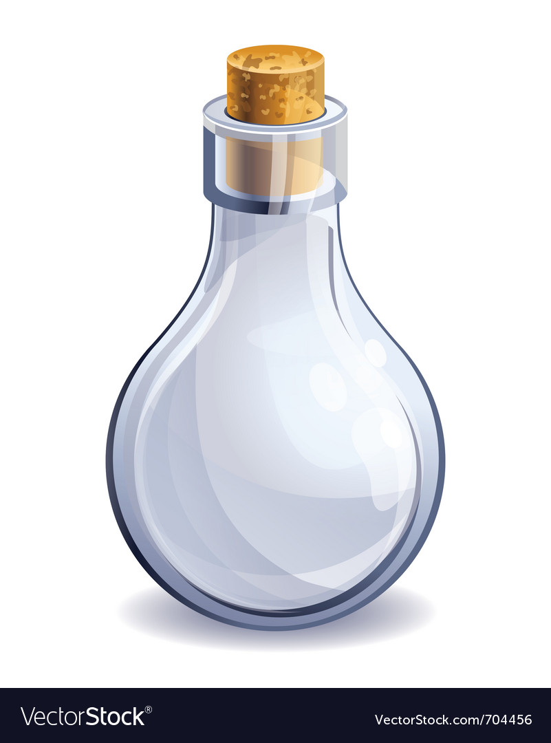 Empty glass bottle vector | Price: 1 Credit (USD $1)