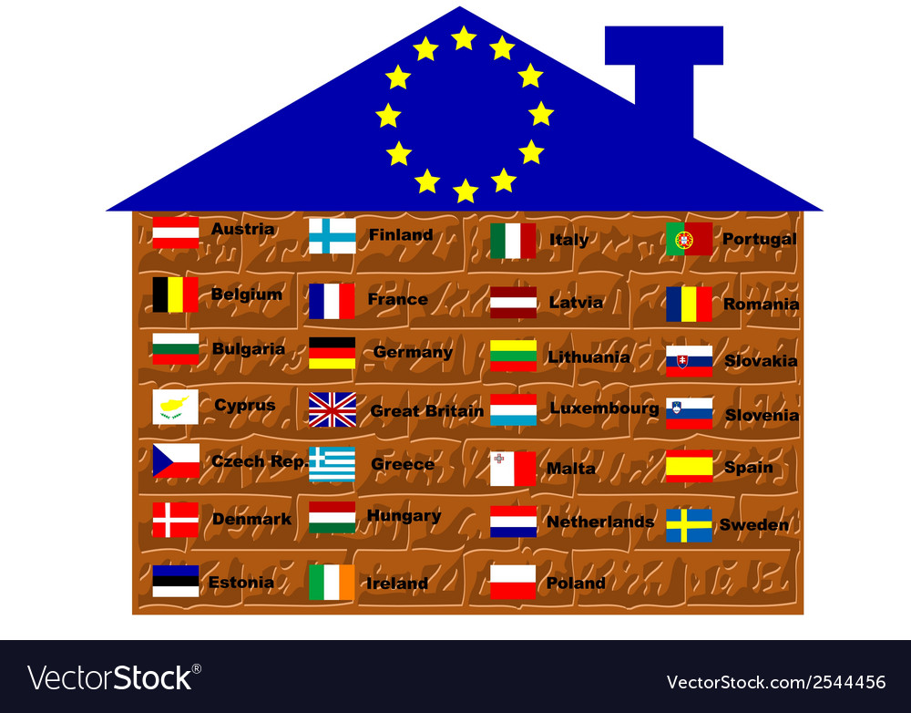 Eu flags vector | Price: 1 Credit (USD $1)