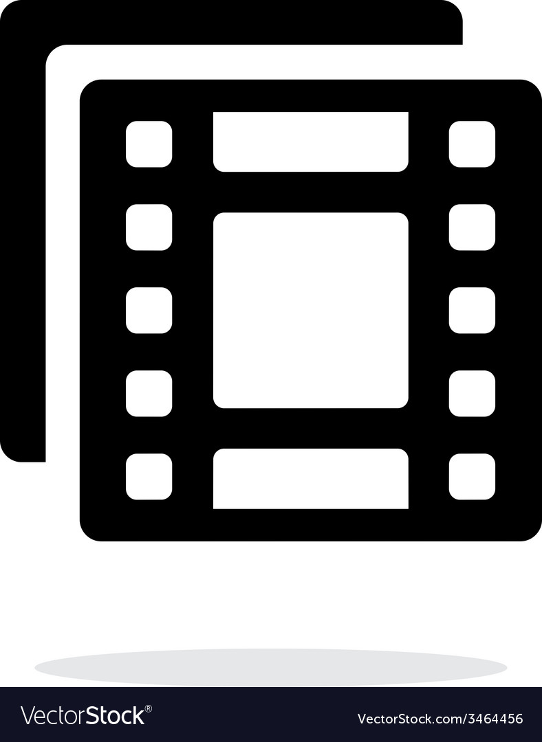 Films icon on white background vector | Price: 1 Credit (USD $1)