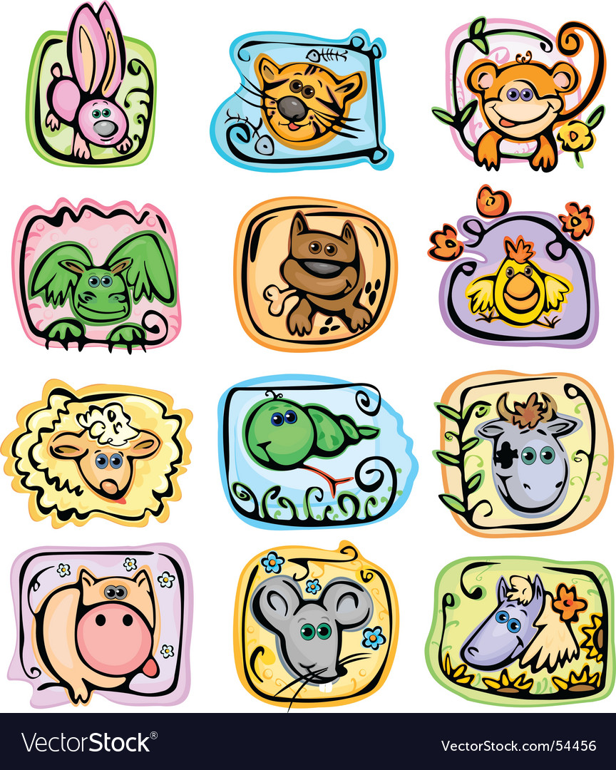 Horoscope characters vector | Price: 5 Credit (USD $5)