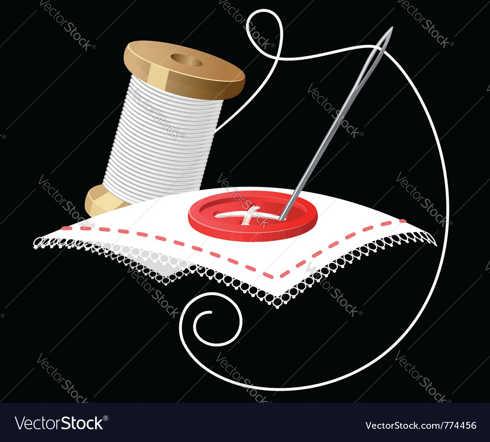 Needle and thread vector | Price: 3 Credit (USD $3)