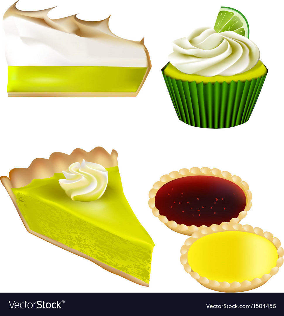 Patisserie collection - lime and lemon vector | Price: 1 Credit (USD $1)