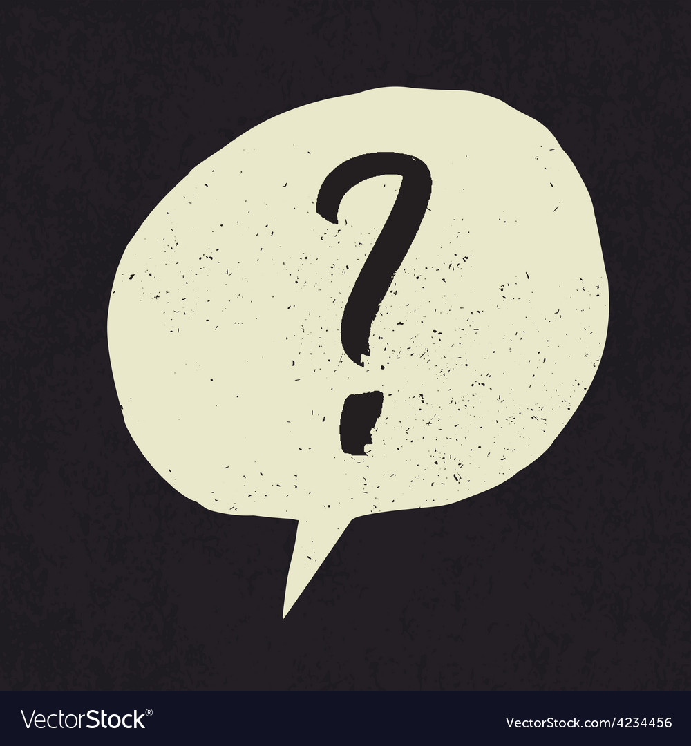 Question grunge mark vector | Price: 1 Credit (USD $1)