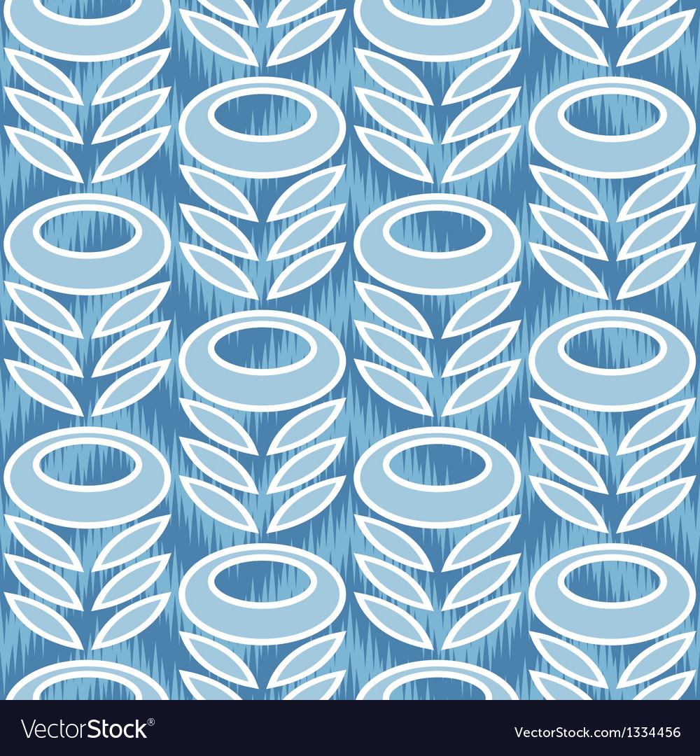 Retro modern flower and leaves ornament vector | Price: 1 Credit (USD $1)