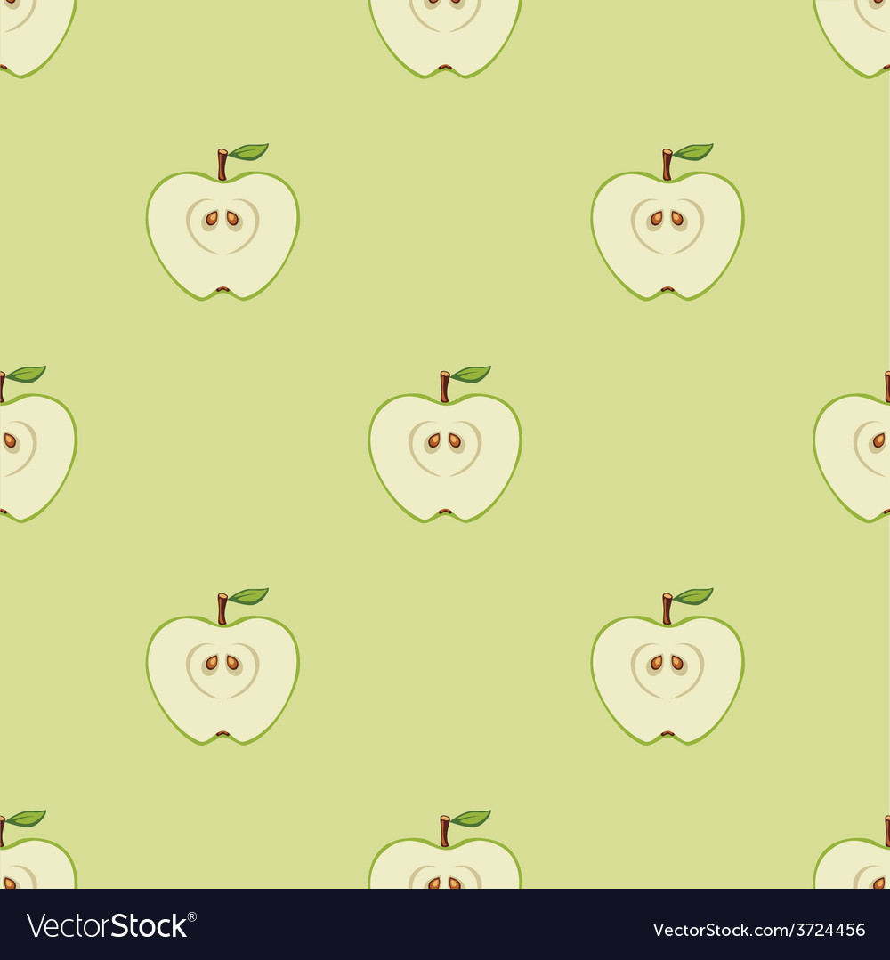 Seamless pattern with apples vector | Price: 1 Credit (USD $1)