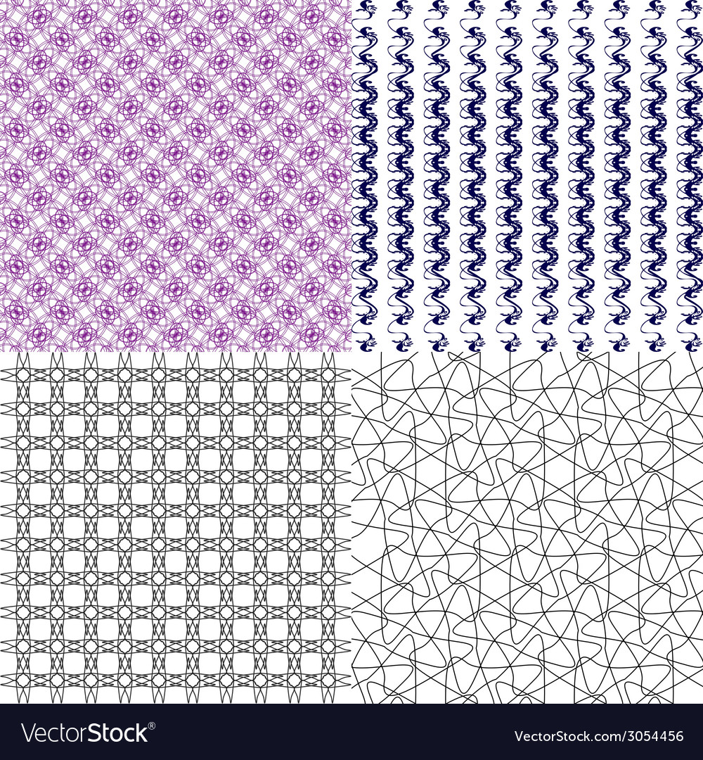 Set of abstract vintage geometric wallpaper vector   Price: 1 Credit (USD $1)