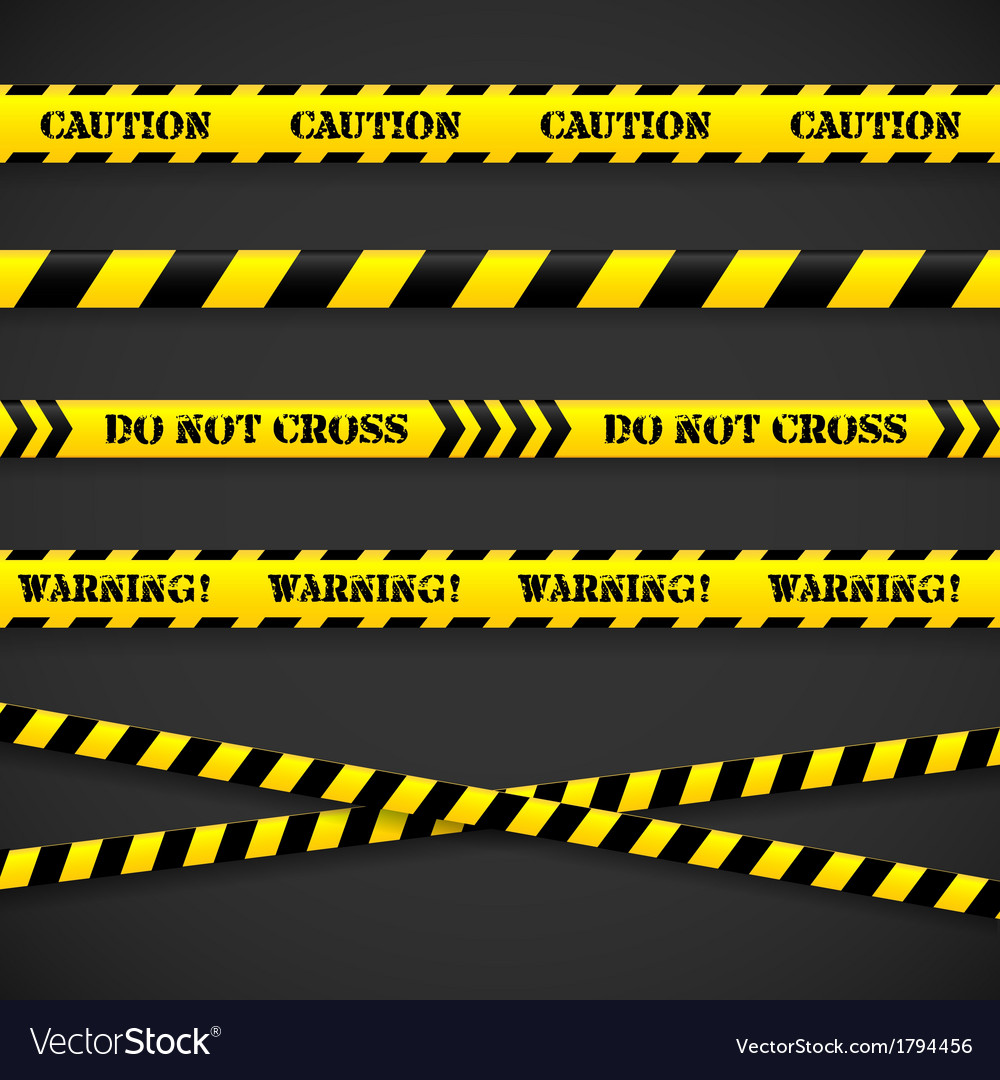 Set of caution tapes vector | Price: 1 Credit (USD $1)