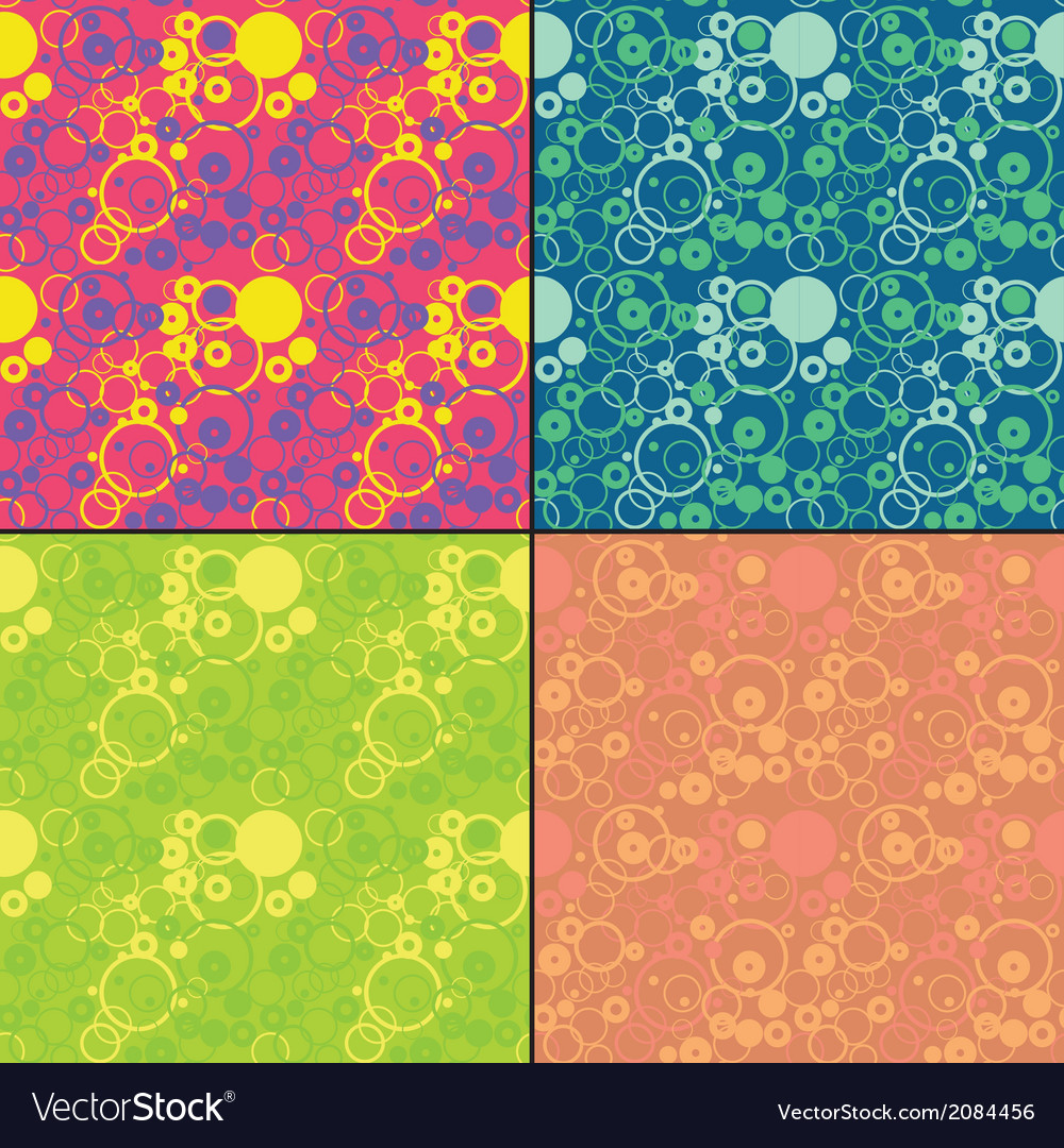Set of four decorative seamless pattern vector | Price: 1 Credit (USD $1)