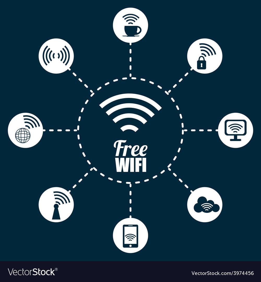 Wi-fi design vector | Price: 1 Credit (USD $1)