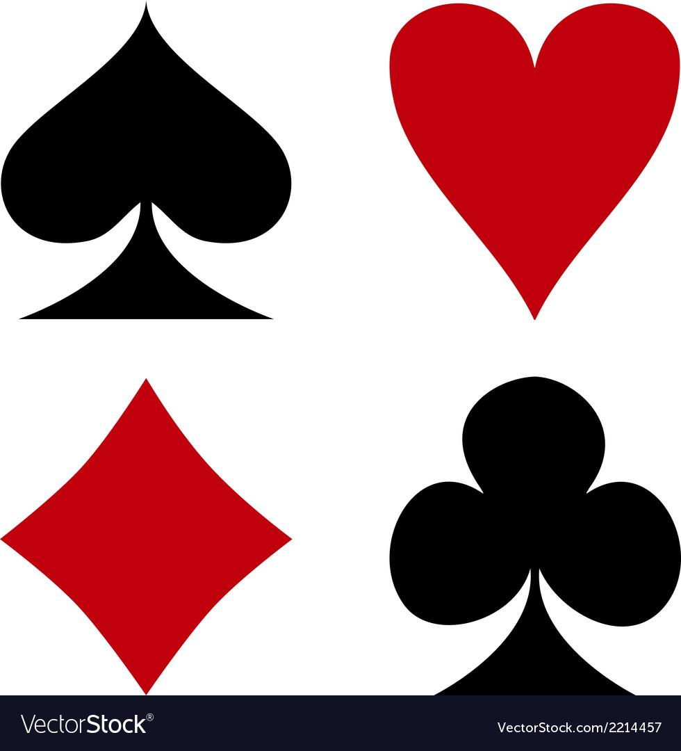 Card suit symbols vector | Price: 1 Credit (USD $1)