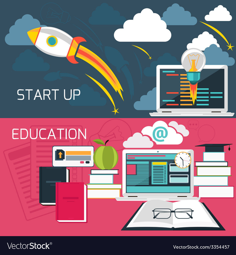 Concept for business start up and online education vector | Price: 3 Credit (USD $3)