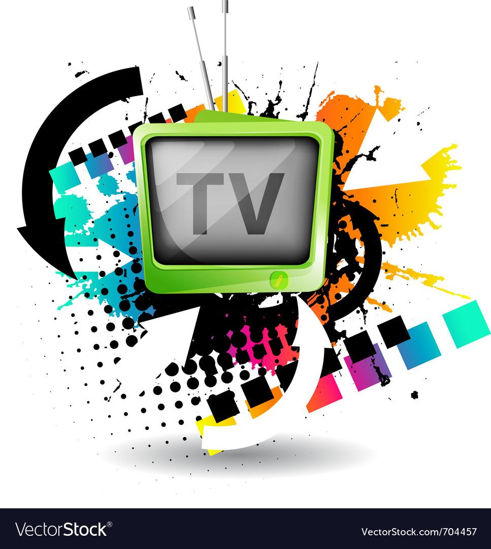 Cute retro tv vector | Price: 1 Credit (USD $1)