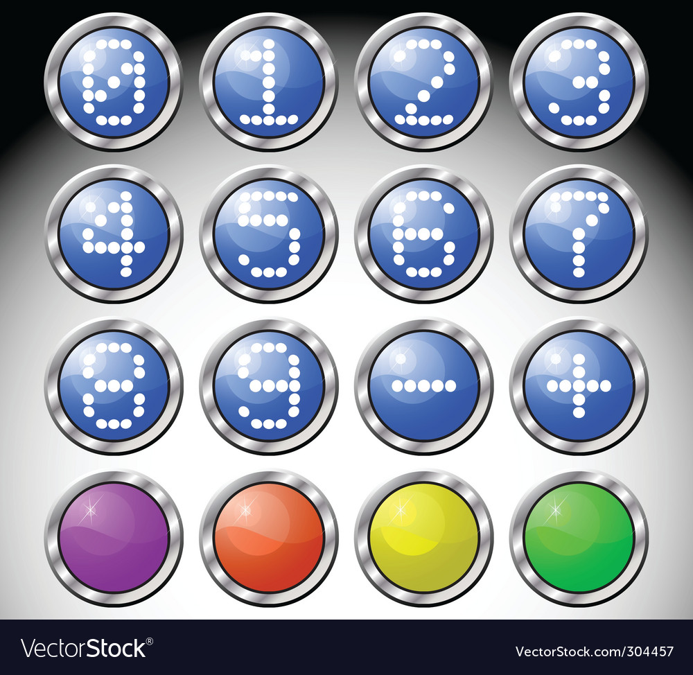 Glass buttons vector | Price: 1 Credit (USD $1)