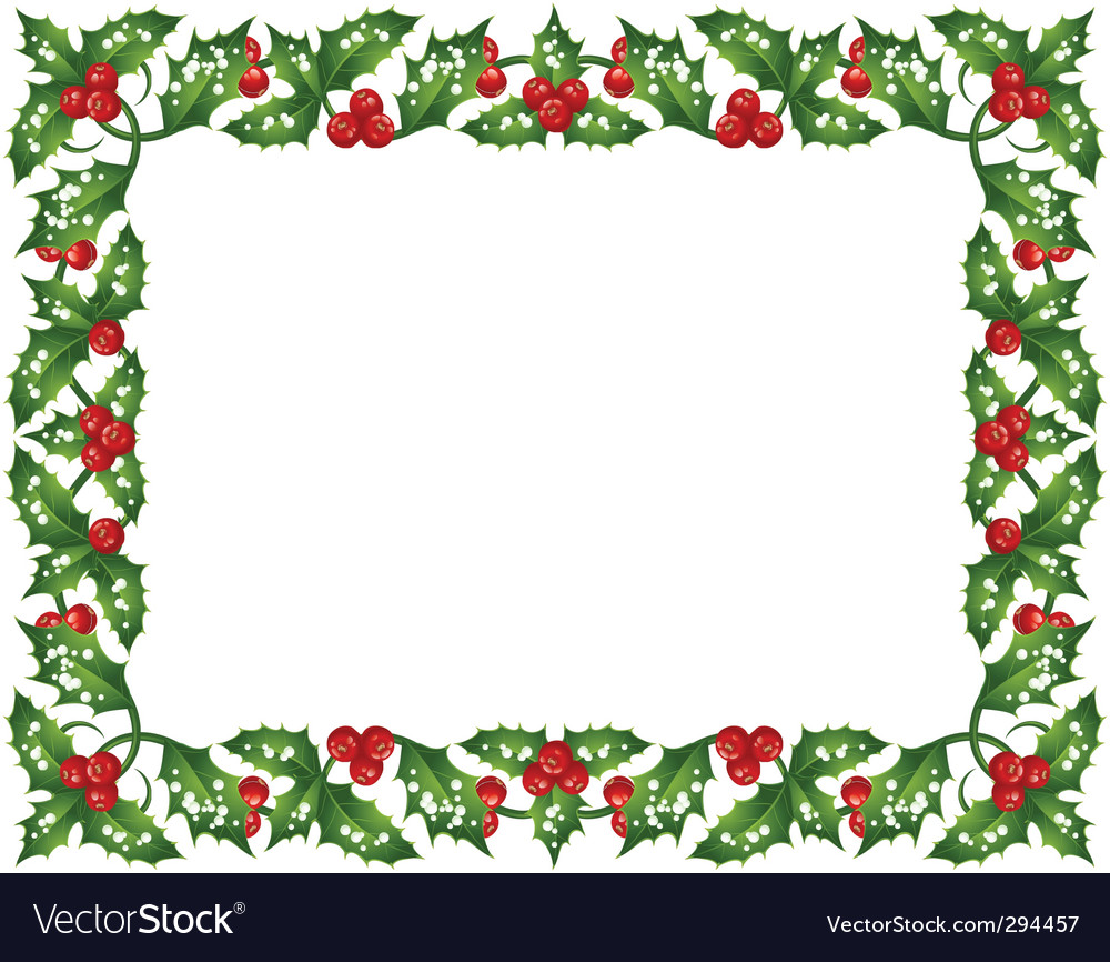 Holly frame vector | Price: 1 Credit (USD $1)
