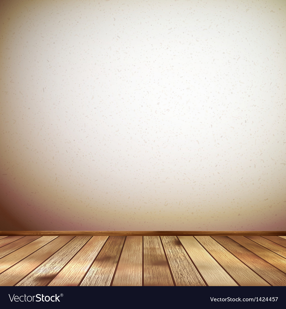 Interior with wooden floor and wall eps 10 vector | Price: 1 Credit (USD $1)