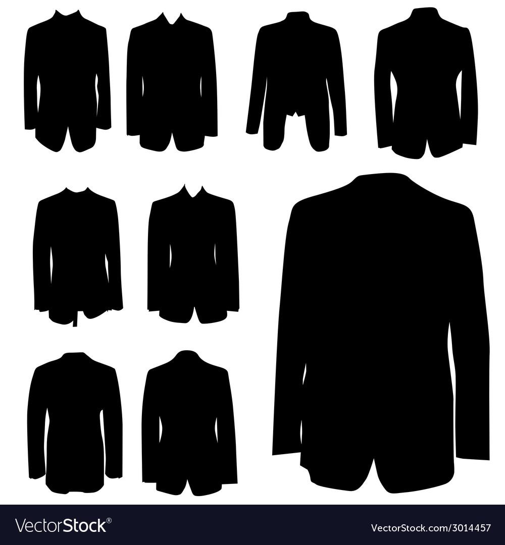 Man coat black silhouette vector | Price: 1 Credit (USD $1)