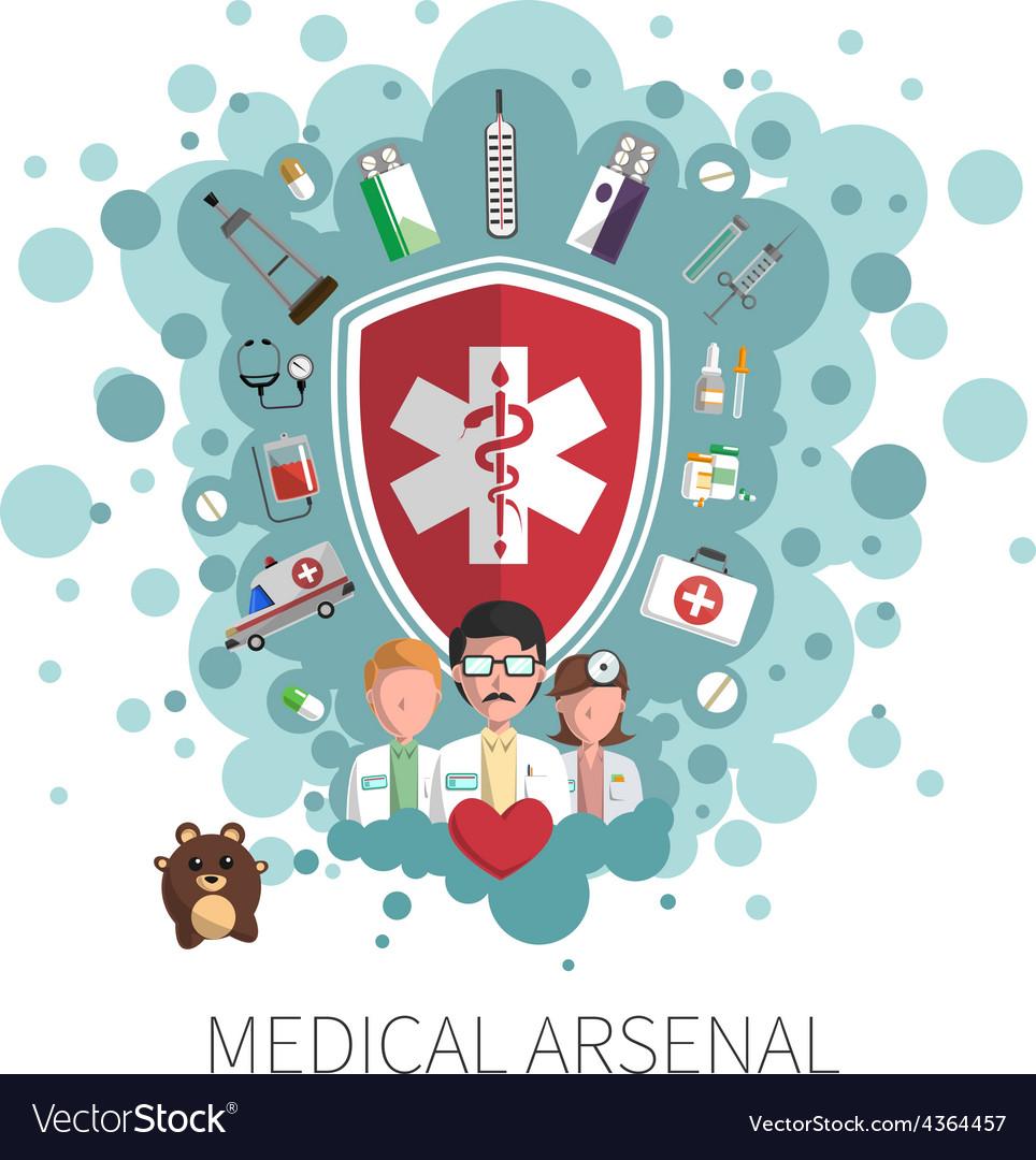Medicine healthcare services concept vector | Price: 1 Credit (USD $1)