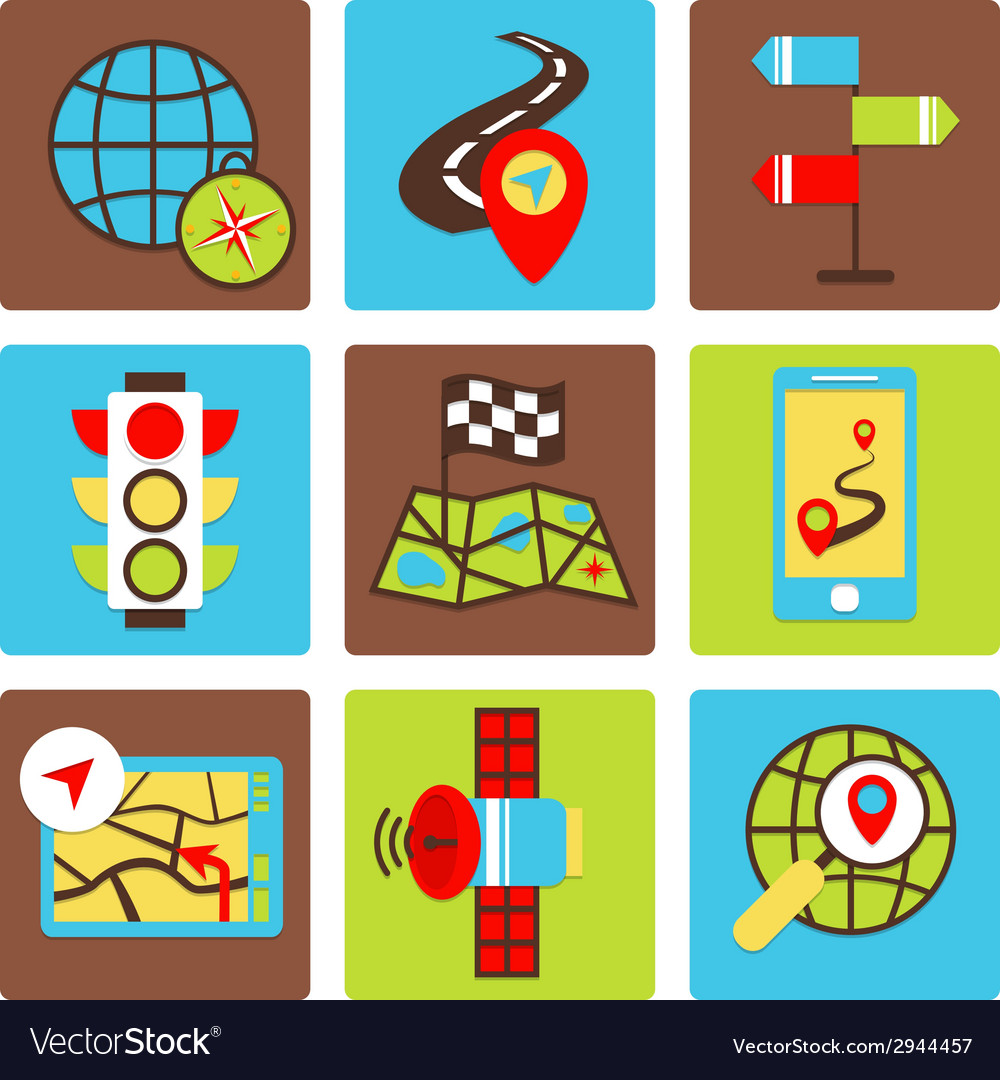 Mobile navigation icons vector | Price: 1 Credit (USD $1)