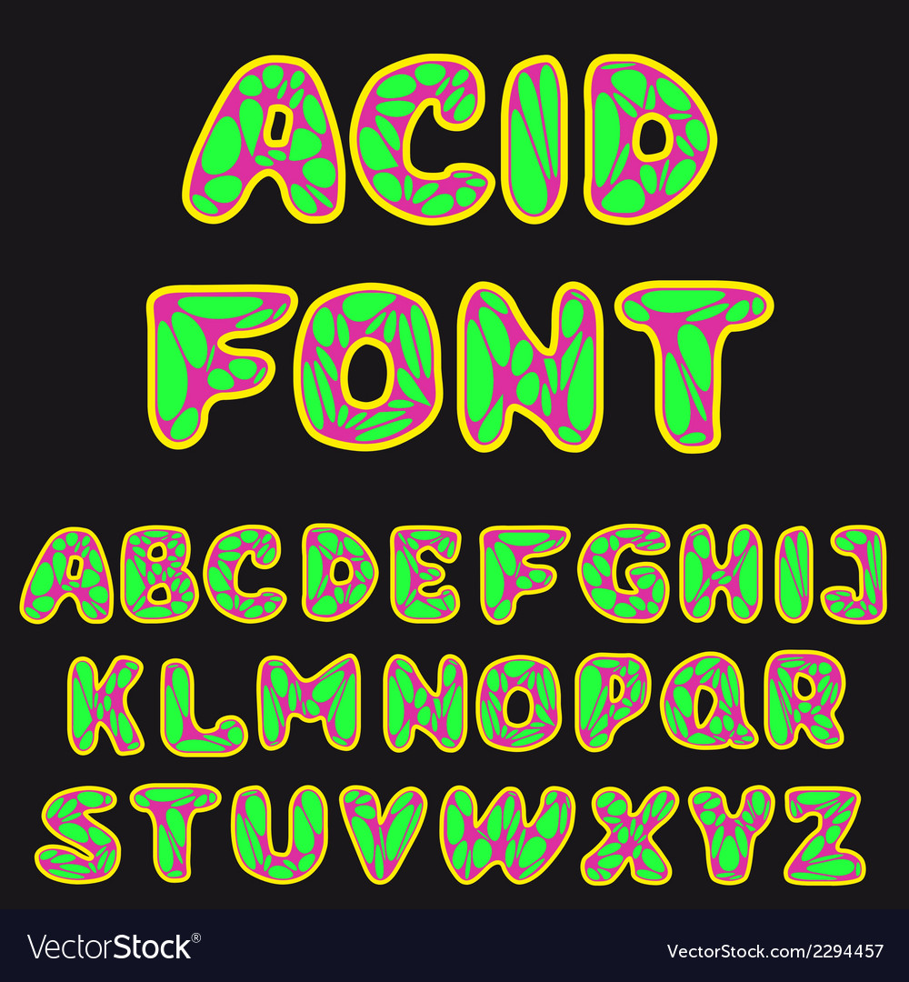 Psychodelic alphabet for design vector | Price: 1 Credit (USD $1)