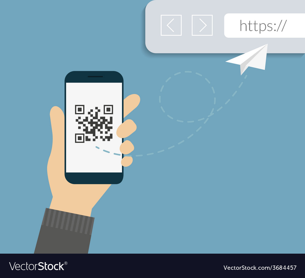 Qr code scanning vector | Price: 1 Credit (USD $1)