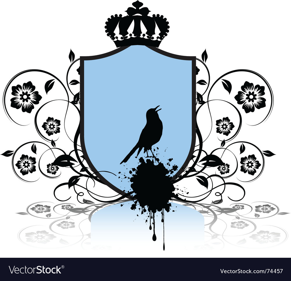 Shield and bird vector | Price: 1 Credit (USD $1)