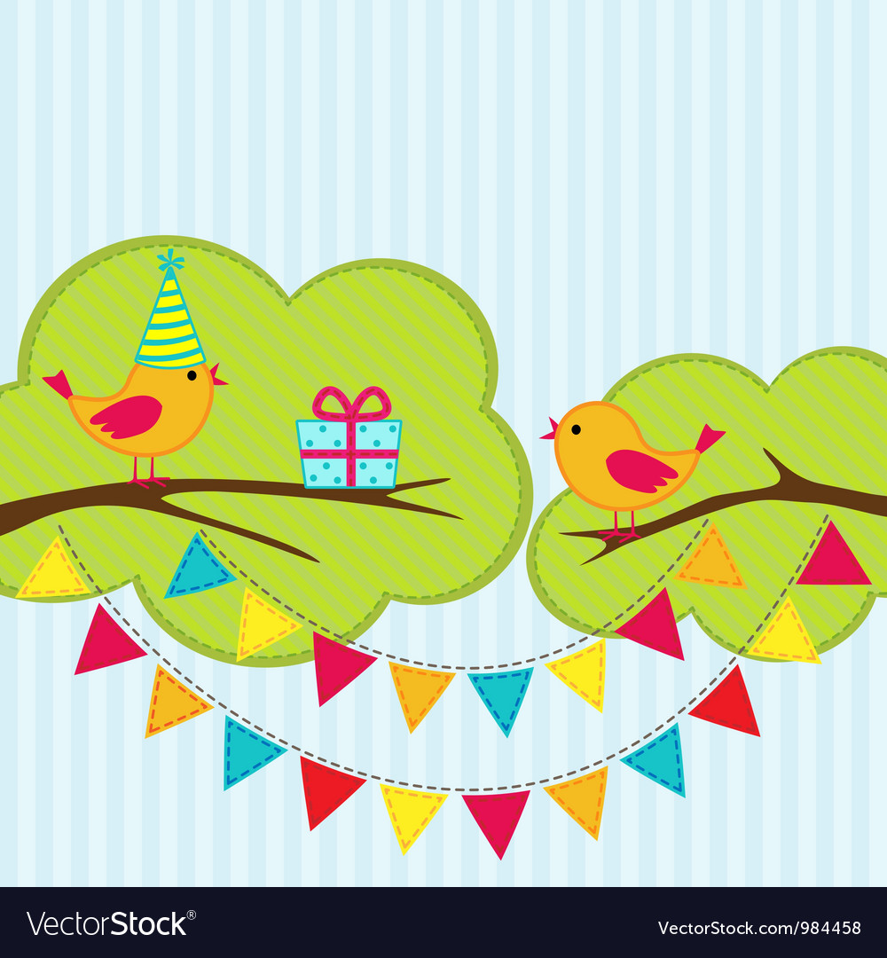 Birthday party card vector | Price: 1 Credit (USD $1)