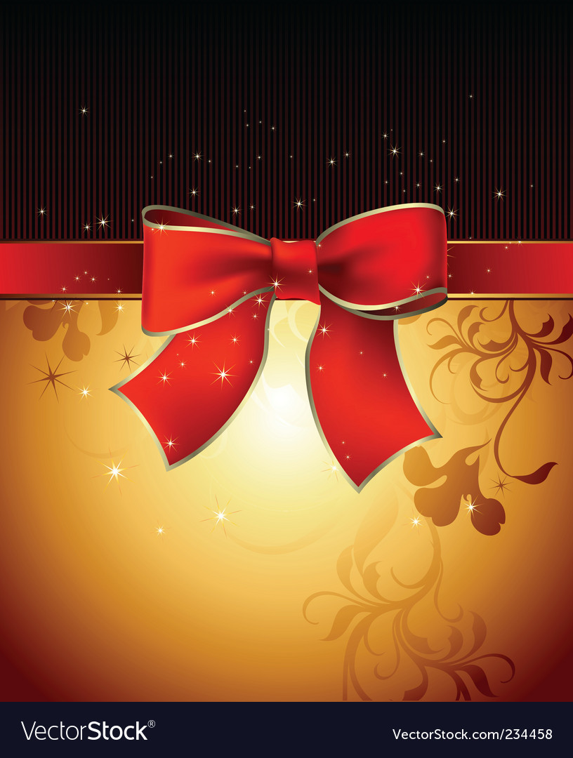 Bow background vector | Price: 1 Credit (USD $1)