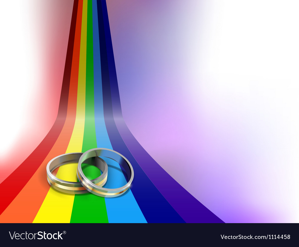 Gay wedding rings vector | Price: 1 Credit (USD $1)