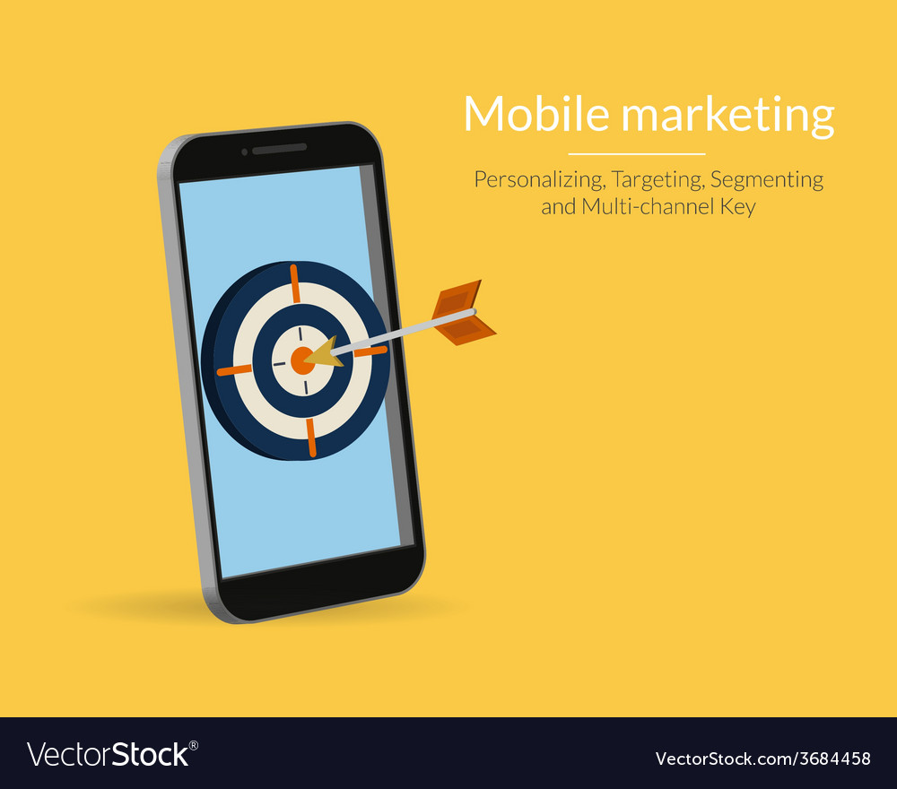 Mobile marketing vector | Price: 1 Credit (USD $1)