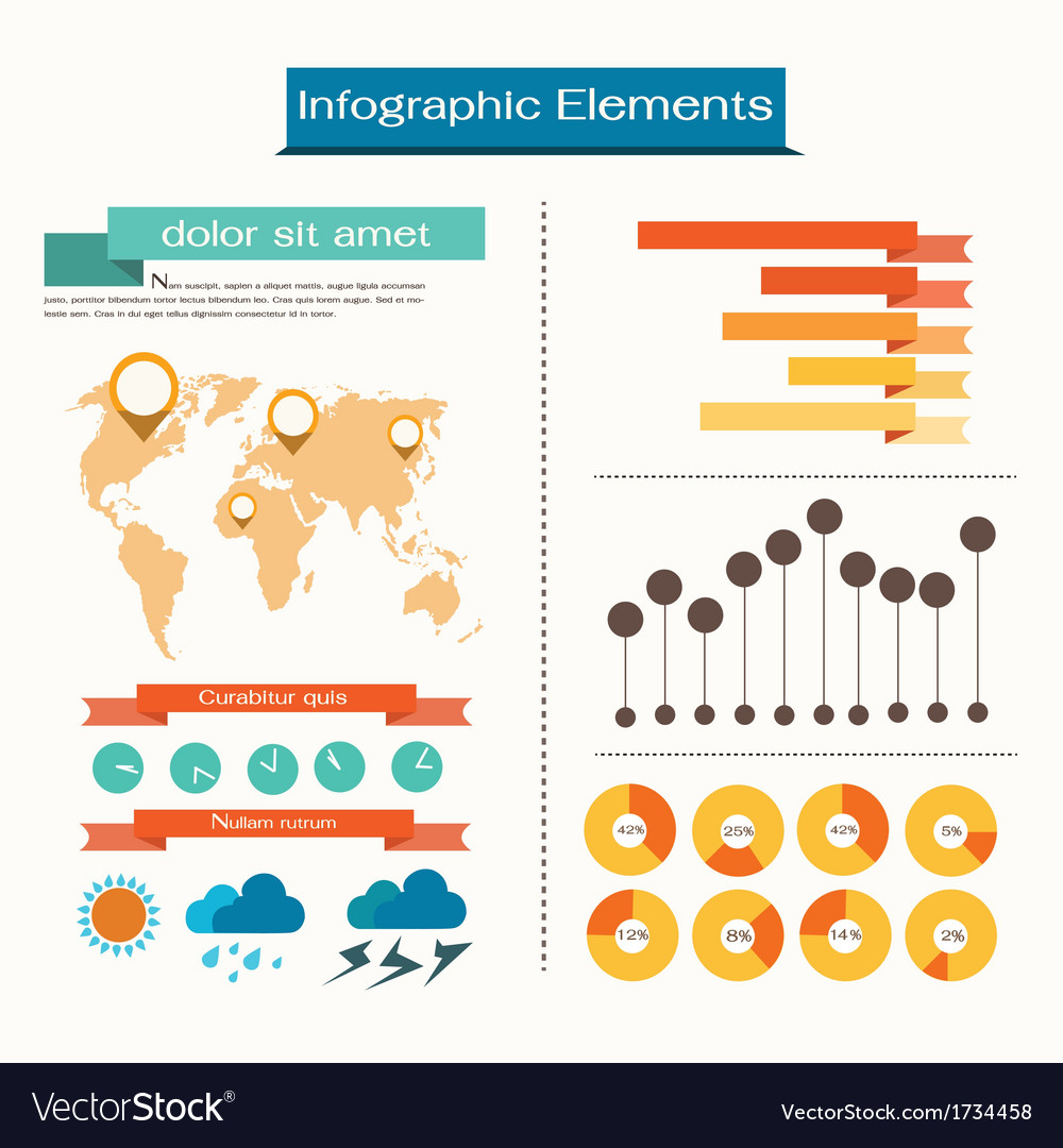 Set elements of infographics vector | Price: 1 Credit (USD $1)