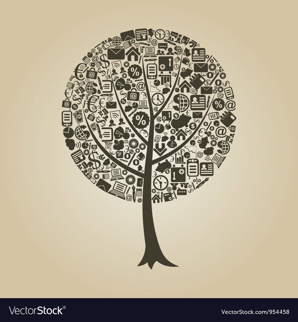 Tree business vector | Price: 1 Credit (USD $1)