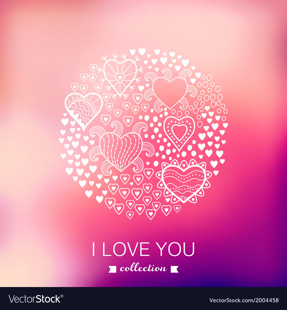 Valentines day background round circle made of vector | Price: 1 Credit (USD $1)