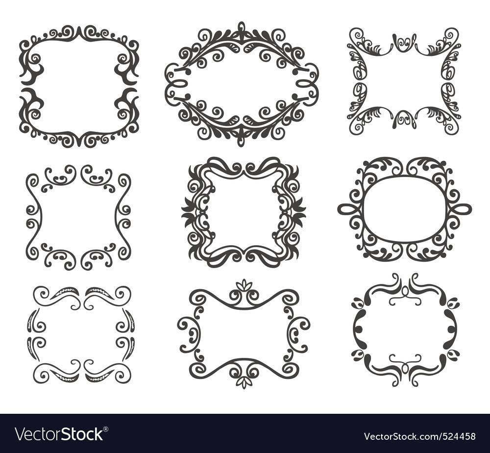 Vintage frame set vector | Price: 1 Credit (USD $1)