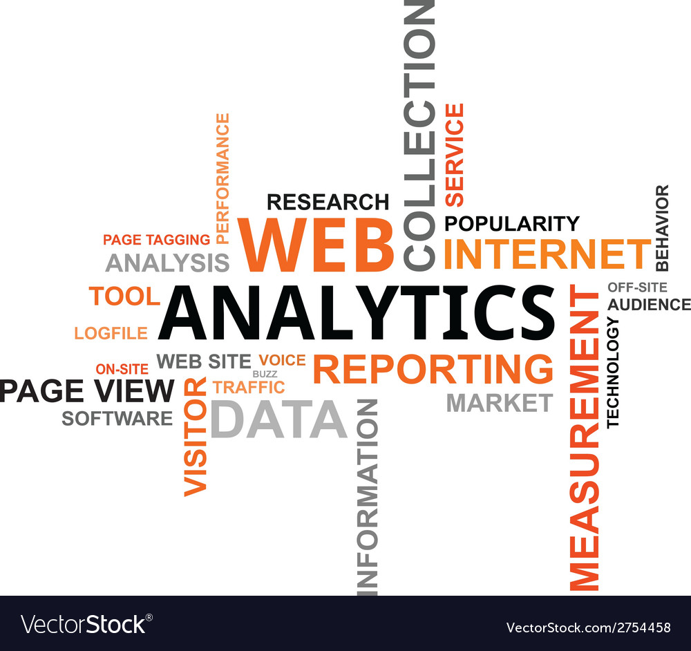 Word cloud web analytics vector | Price: 1 Credit (USD $1)