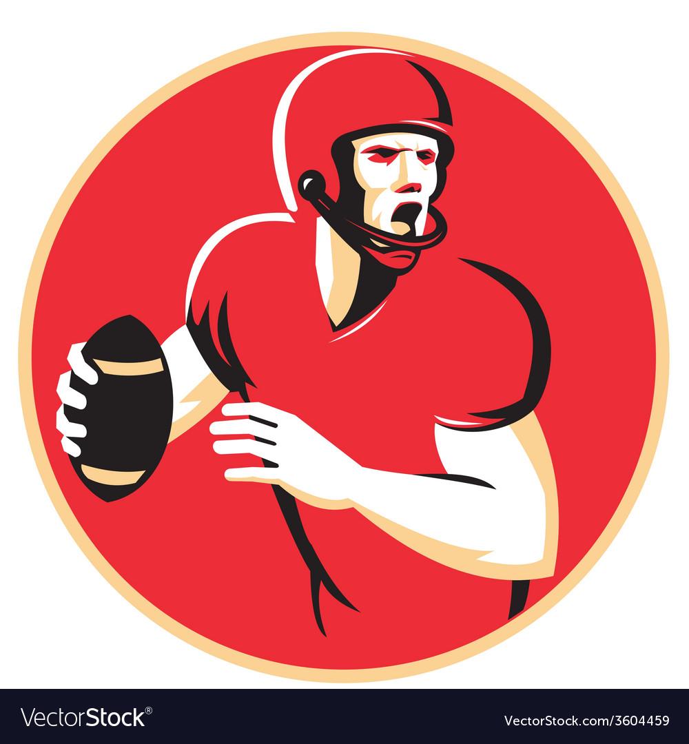 American quarterback football player passing vector | Price: 1 Credit (USD $1)