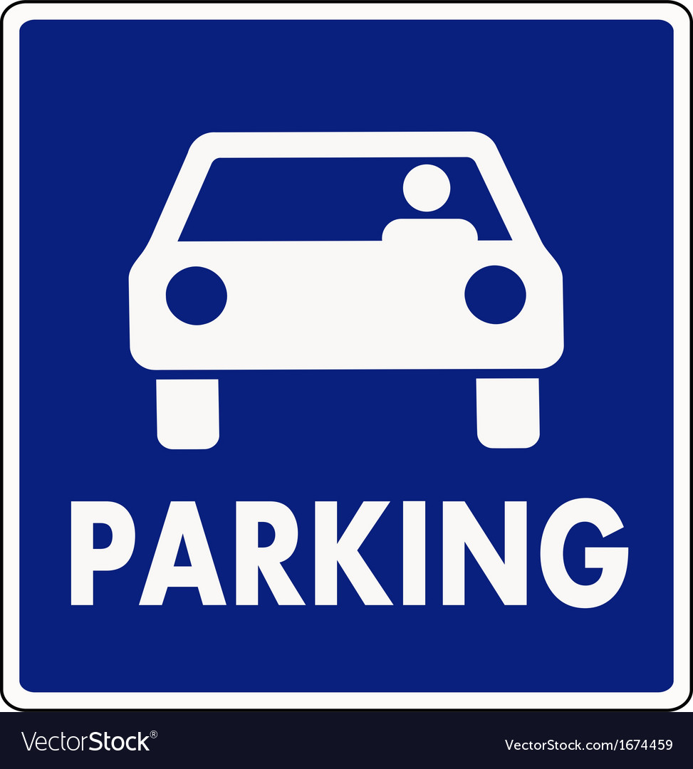 Autocar parking sign vector | Price: 1 Credit (USD $1)