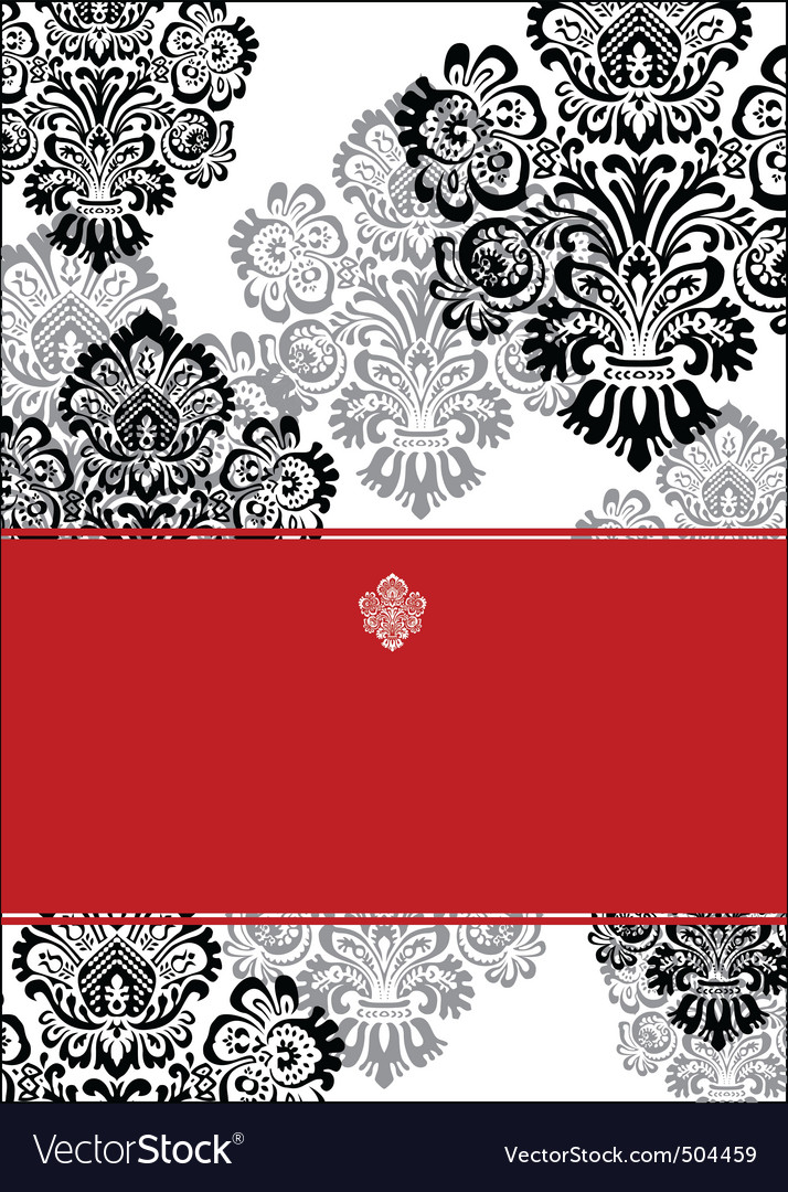 black and red background and white frame vector | Price: 1 Credit (USD $1)