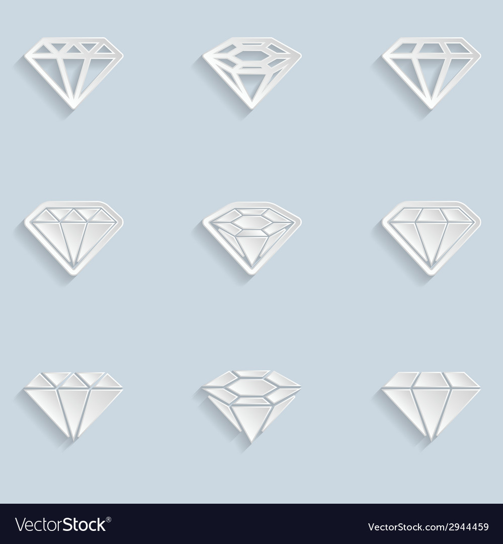 Diamond paper icons vector | Price: 1 Credit (USD $1)