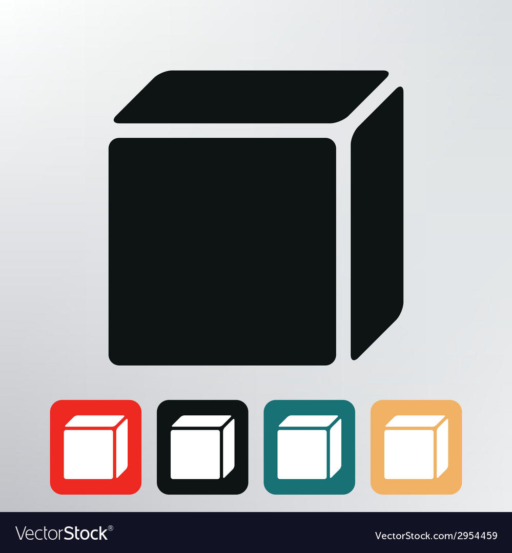 Icon box vector | Price: 1 Credit (USD $1)